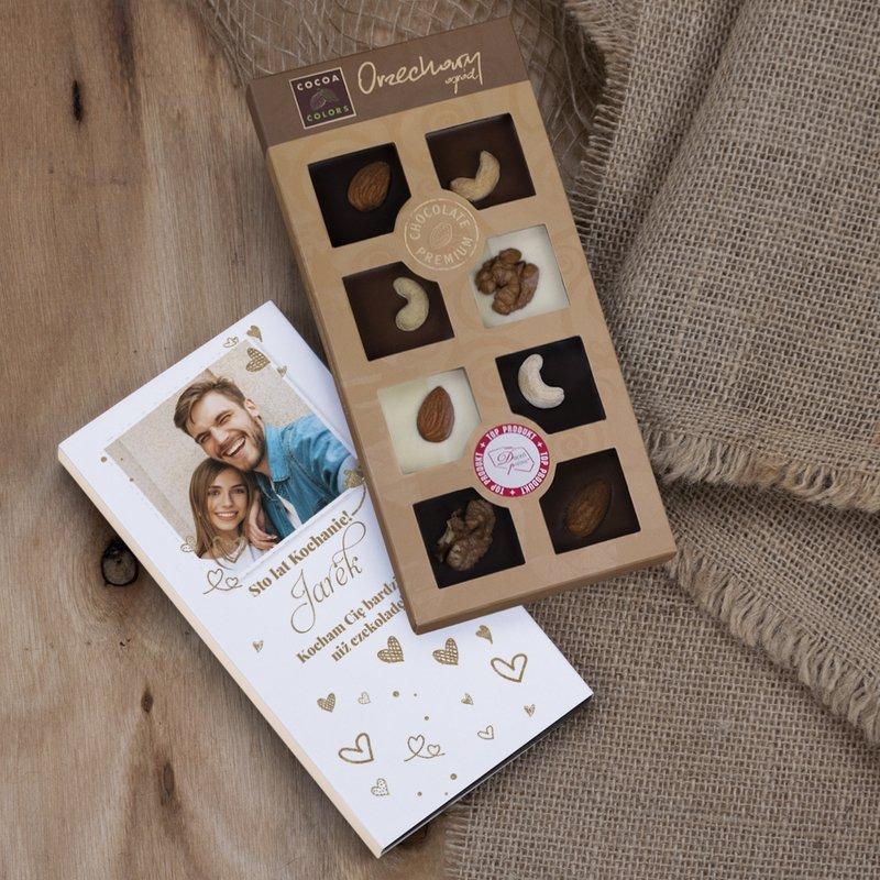 Bardziej niż czekoladę - czekoladki z orzechami z dedykacją
