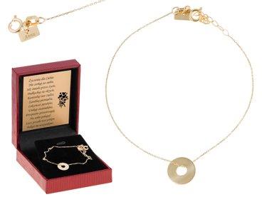 Bransoletka łańcuszek kółko celebrytka złoto pr. 0.333 GRAWER złota kokardka