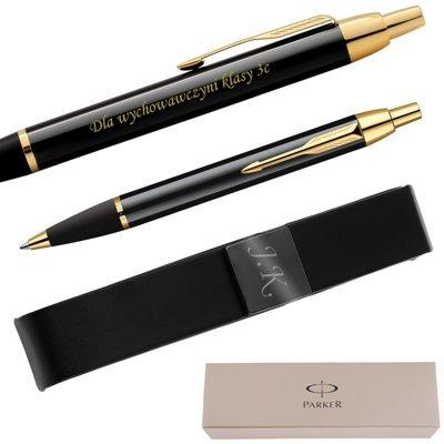 Długopis Parker IM Czarny GT + Etui Grawer