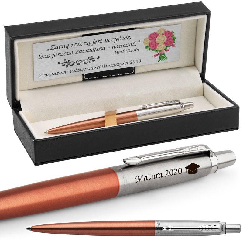 Długopis Parker Jotter CT Chelsea Orange Grawer i Dedykacja