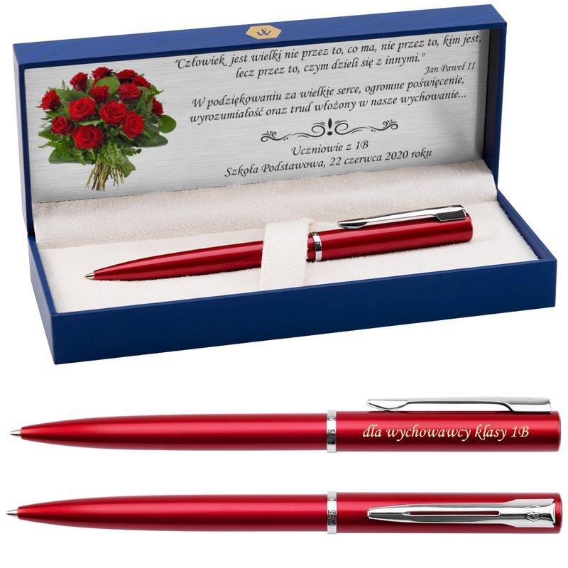 Długopis Waterman Allure Czerwony CT z Grawerem