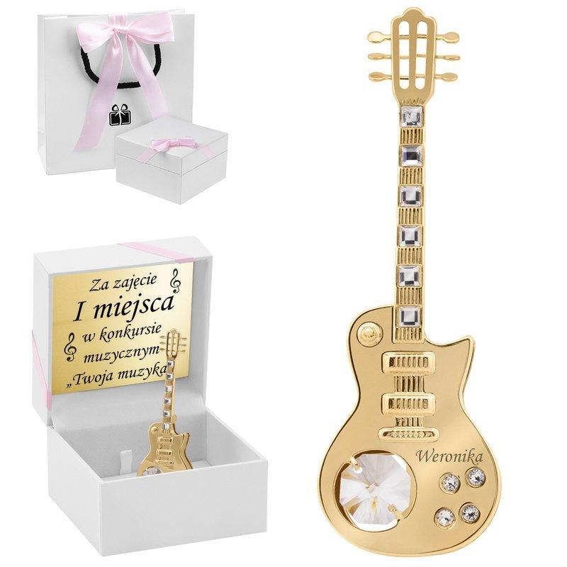 Figurka Gitara Swarovski Prezent z Dedykacją Grawer
