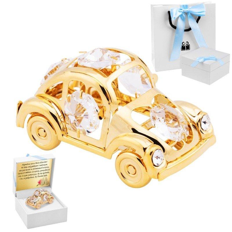 Samochodzik Beetle Garbus Swarovski Chrzest Grawer