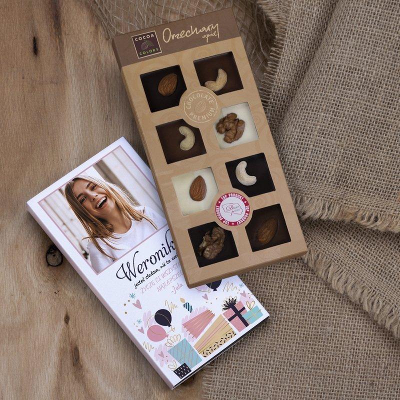 Słodsza Niż Czekolada - czekoladki z orzechami z dedykacją