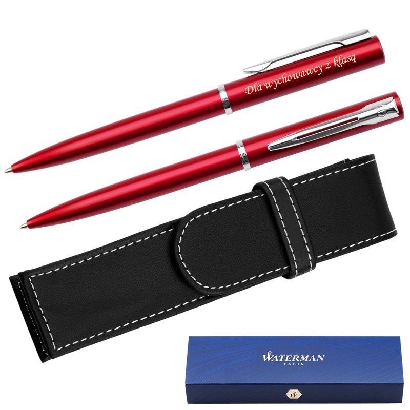 Waterman Allure Długopis Czerwony CT + Etui Grawer