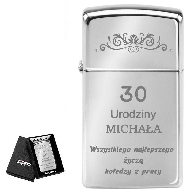Zapalniczka ZIPPO z1610 Slim High Polish Chrome GRAWER