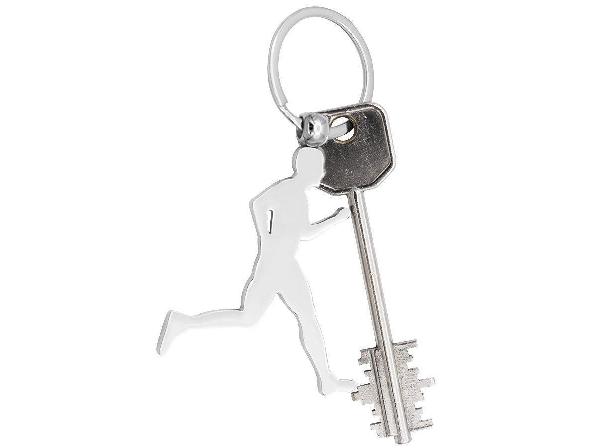 Brelok breloczek do kluczy Biegacz z GRAWEREM