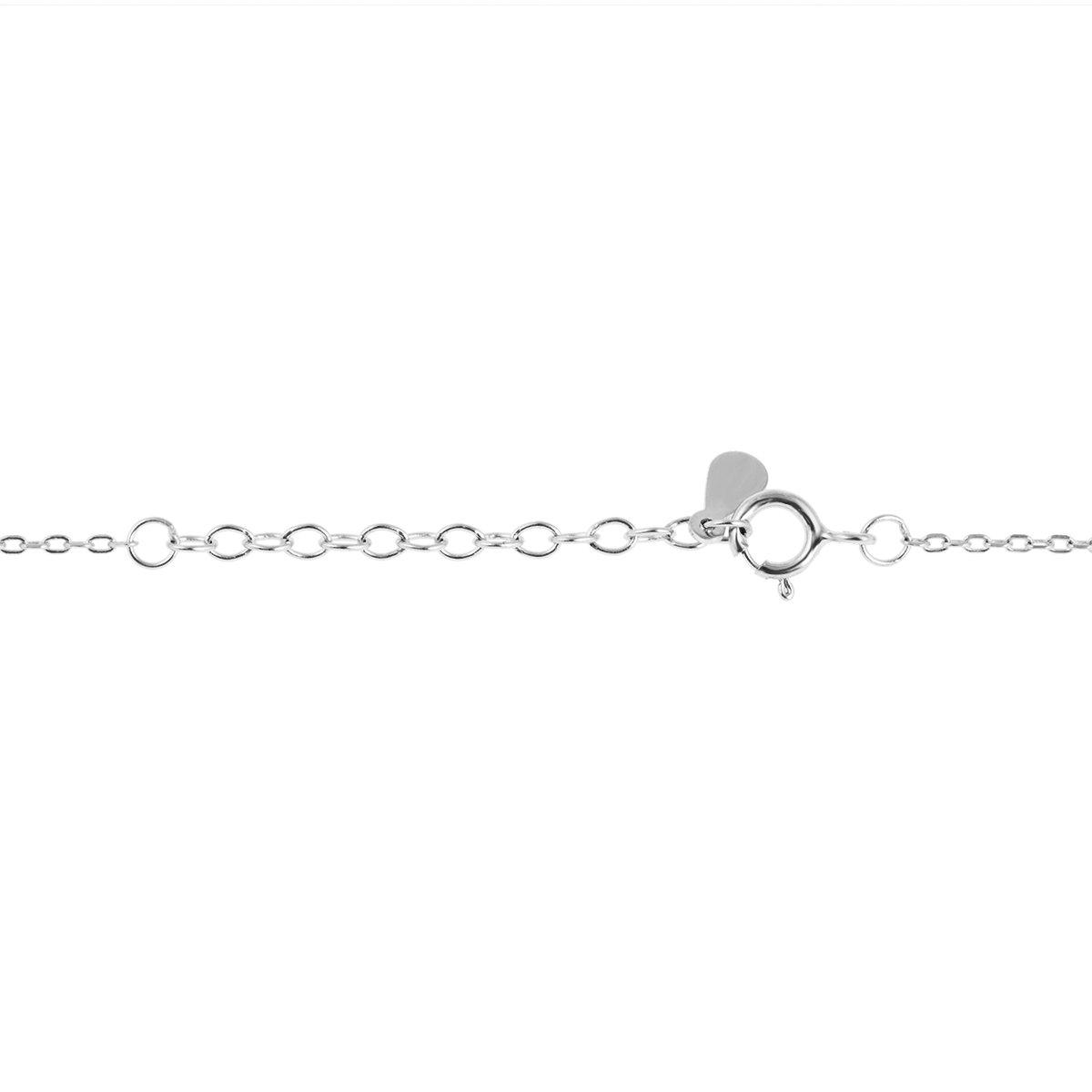 Srebrny Zestaw bransoletka + naszyjnik Nieskończoność pr. 925 Dedykacja
