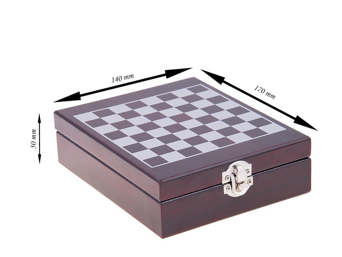 Zestaw do wina 4 el. w drewnianym pudełku szachy DEDYKACJA