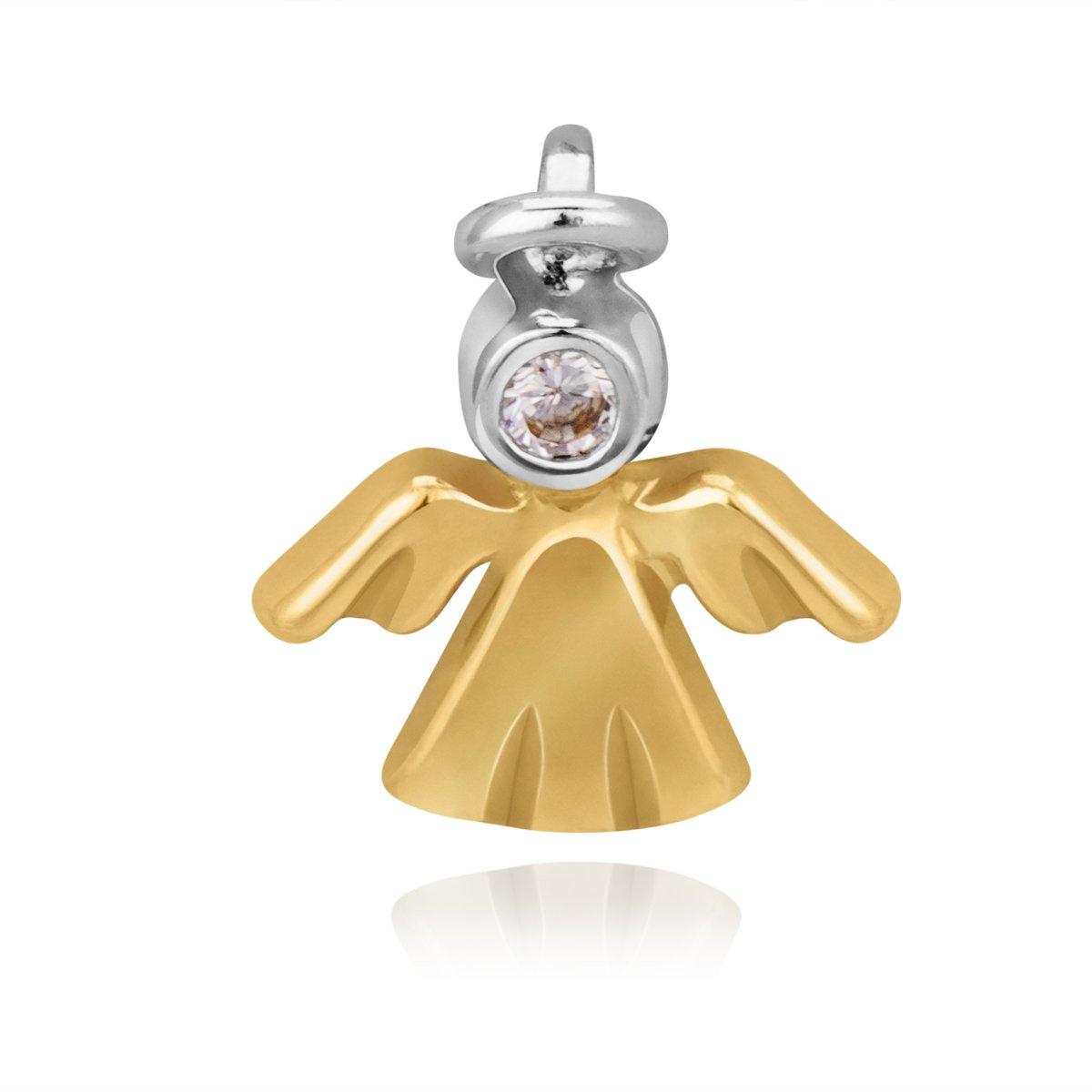 Złoty Wisiorek Aniołek z cyrkonią pr. 585 Prezent