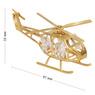 Helikopter Swarovski Pamiątka chrzest roczek z Dedykacją Niebieska Kokardka 4
