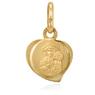 Medalik w kształcie serduszka z wizerunkiem Matki Boskiej Częstochowskiej pr 333 Chrzest Komunia Bierzmowanie GRAWER