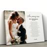 Obraz na płótnie ze zdjęciem Prezent na Ślub 70x100 cm 5