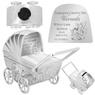 Skarbonka dla dziecka wózek - prezent na Chrzest, Baby Shower, Roczek   z Grawerem 1