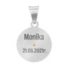 Srebrny Medalik Z Matką Boską Częstochowską Grawer 5
