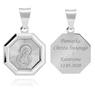 Srebrny medalik z Matką Boską / srebro 925 / Grawer 1