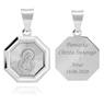 Srebrny medalik z Matką Boską / srebro 925 / Grawer 2