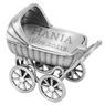 Srebrny wózek / pamiątka prezent na Chrzest / pr. 925 / z Grawerem 1