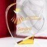 Szklana statuetka serce prezent na bierzmowanie z Nadrukiem 1
