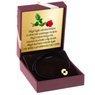 Sznurkowa czarna bransoletka z wyciętym sercem pr. 585 z Dedykacją 2