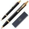Zestaw Parker IM czarny GT Pióro wieczne Długopis Grawer 11