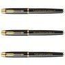 Zestaw Parker IM czarny GT Pióro wieczne Długopis Grawer 5