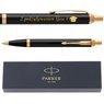 Zestaw Parker IM czarny GT Pióro wieczne Długopis Grawer 3
