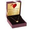 Złoty Naszyjnik Serce Celebrytka pr. 585 (14 K) GRAWER różowa kokardka