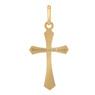 Złoty krzyżyk pr. 585 z Grawerem i Dedykacją / prezent na I Komunie Św., Chrzest Św./ w pudełku z różową kokardką 5
