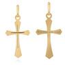 Złoty krzyżyk pr. 585 z Grawerem i Dedykacją / prezent na I Komunie Św., Chrzest Św./ w pudełku z różową kokardką 3