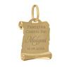 Złoty medalik z Matką Boską i Dzieciątkiem w kolorze z Grawerem / na Chrzest / I Komunię Św. / pr. 585 5