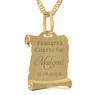 Złoty medalik z łańcuszkiem pr. 585 Matka Boska z Małym Jezusem na Chrzest Komunię Grawer 4